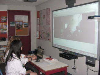 Skyping Mexico in Spanish Class 2