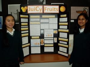 Marisa and Sabiha and their Vitamin C project