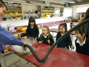 The Magic of Science: the little school visits the sr. science wing