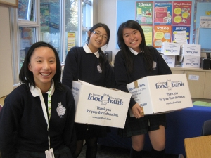 Gr 7 Girls Fill Up Boxes for 'Halloween for Hunger'
