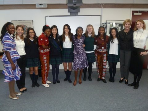 Girls from Ghana Visit YHS