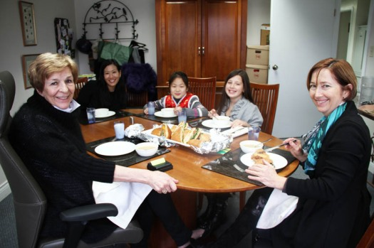 Nevada & Jacqueline have lunch with Ms. Ruddy, Mrs. Kealey & Hillary