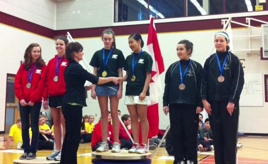 Ariana and her doubles partner Alex won gold in the girls competition