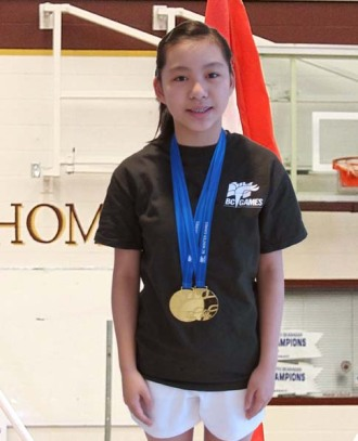 Ariana, Gr. 8 brings home gold from the BC Games