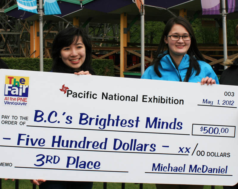 "Julie and Jennifer win $500 at ""BC's Brightest Minds"""