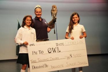 Junior Girls Present Donation Cheque to OWL Rehabilitation
