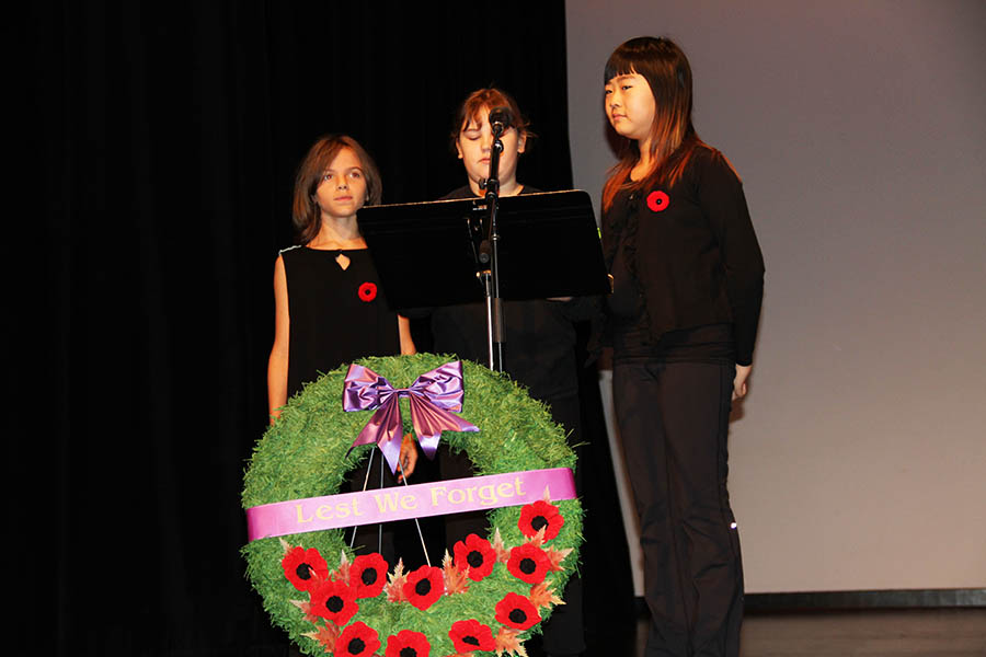 Reflections on a War: Junior School Remembrance Day Ceremony