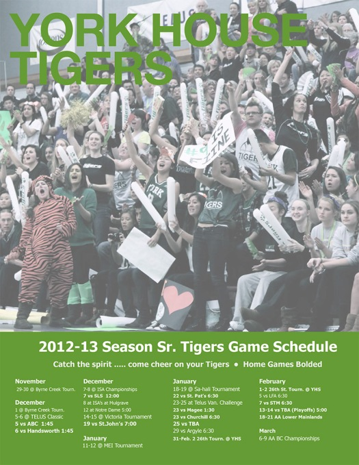 Sr Volleyball Schedule 2012-13