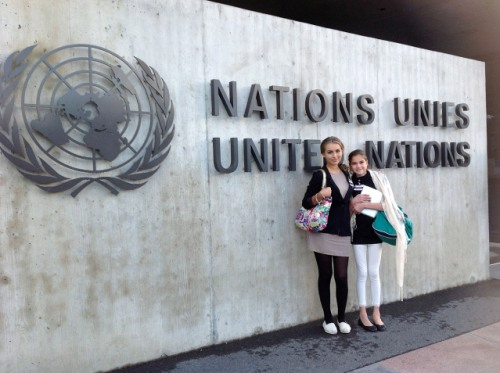 Zoe at the United Nations