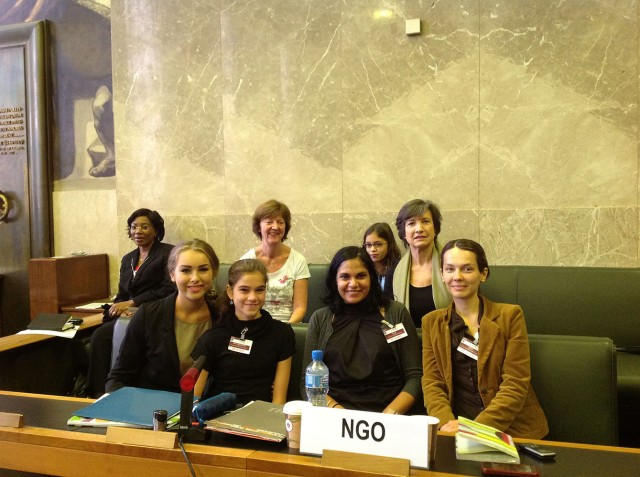 Zoe with UN Committee Members