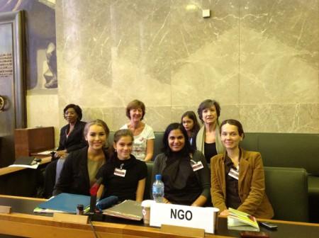 Zoe with UN Committee Members