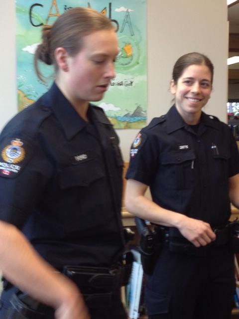 VPD Officers Visit with Spy Club Members