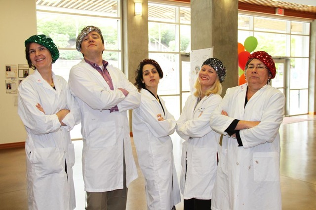 Sr. Science Teachers get in to the spirit of Language Awareness Week