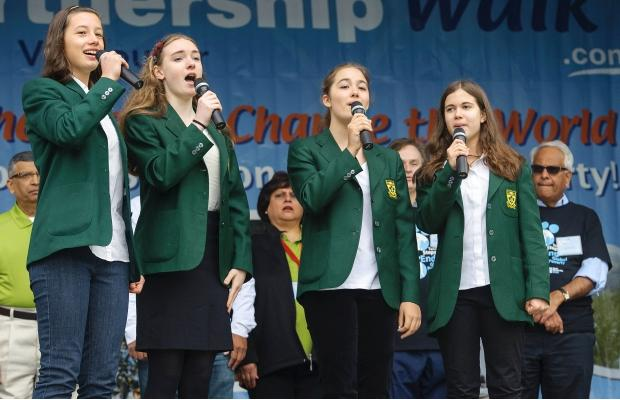 Yorkies Sing National Anthem at World Partnership Walk