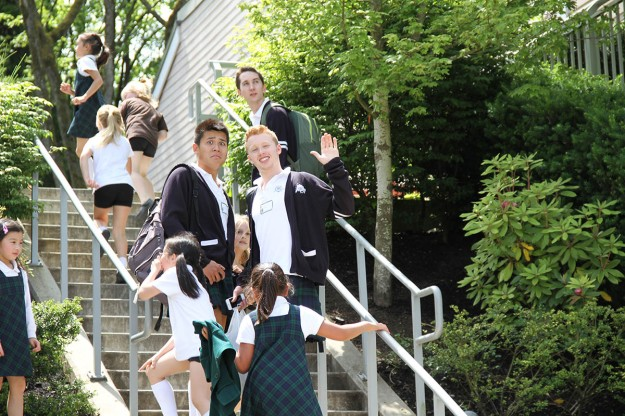 Saints grads in kilts