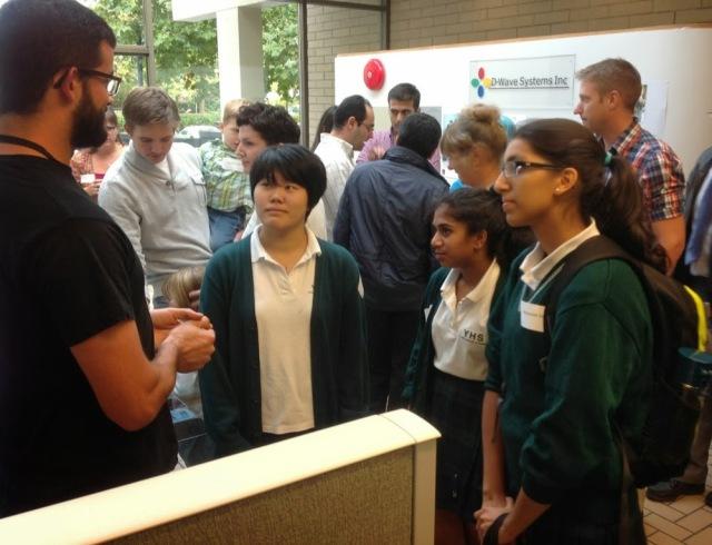 Science Students Visit D-Wave