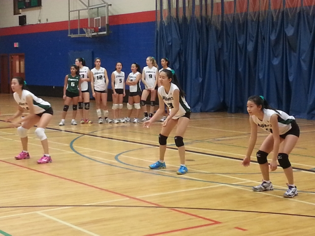 Jr. Volleyball at the ISA Tournament at SMUS in Victoria.