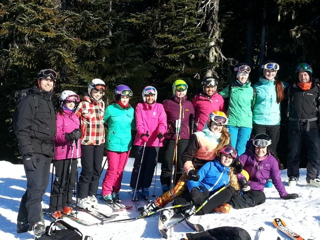 Skiers at Zone Championship