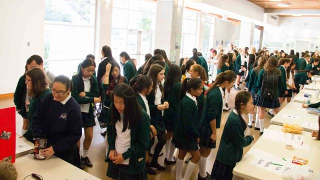 Clubs Day in the Gail Ruddy Foyer, October 1, 2014.