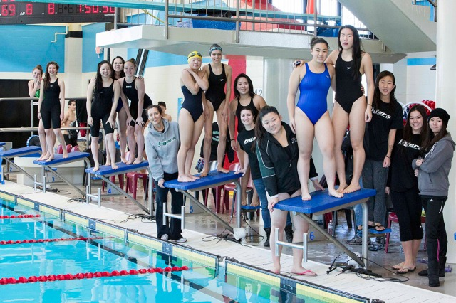 Swim Team at the Provincial Championships at Watermania, Richmond.