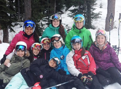 Ski & Snowboard Team after their race on Friday, Jan 30, 2015.