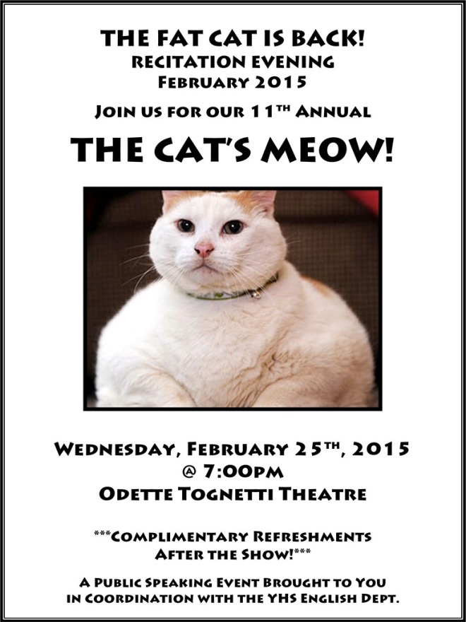 Recitations Grand Finale - The Cat's Meow