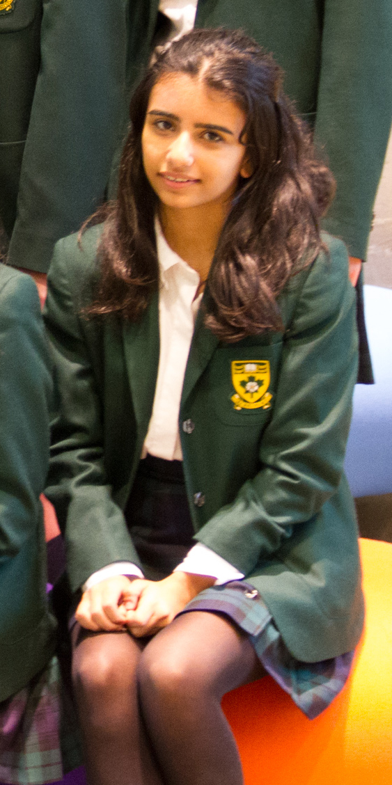 Rosa, Gr. 9, qualified for the Jr. Nationals Debating Championships.