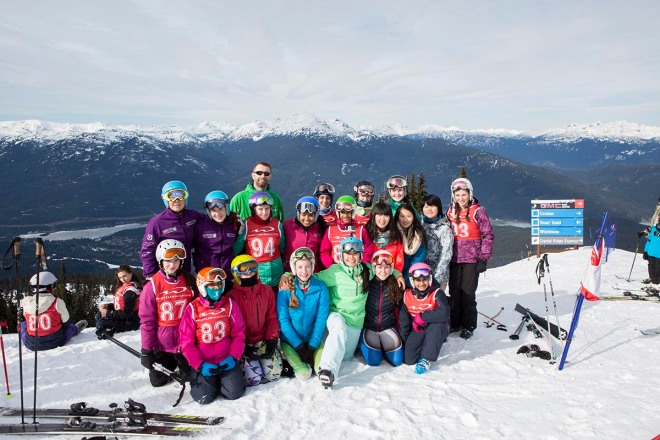 Ski Team in February 2015