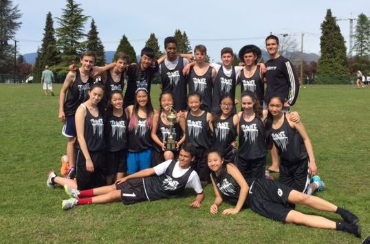 Jr. Ultimate Gr. 9/10 team wins Eric Hamber Invitational Ultimate Tournament.