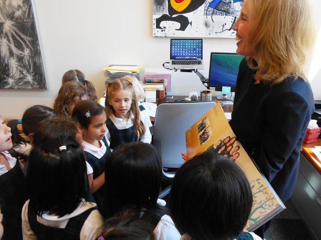 SK Apples Visit Ms. Gionet