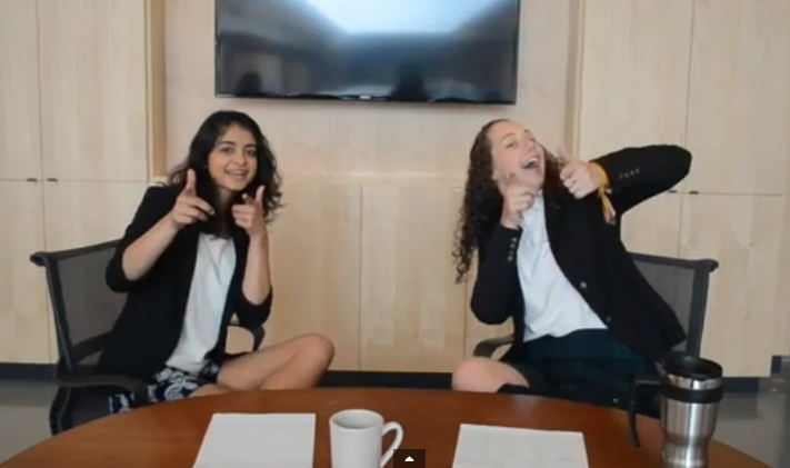 Head Girl Ally and Vice-Head Aria, for Yorkie News Live.