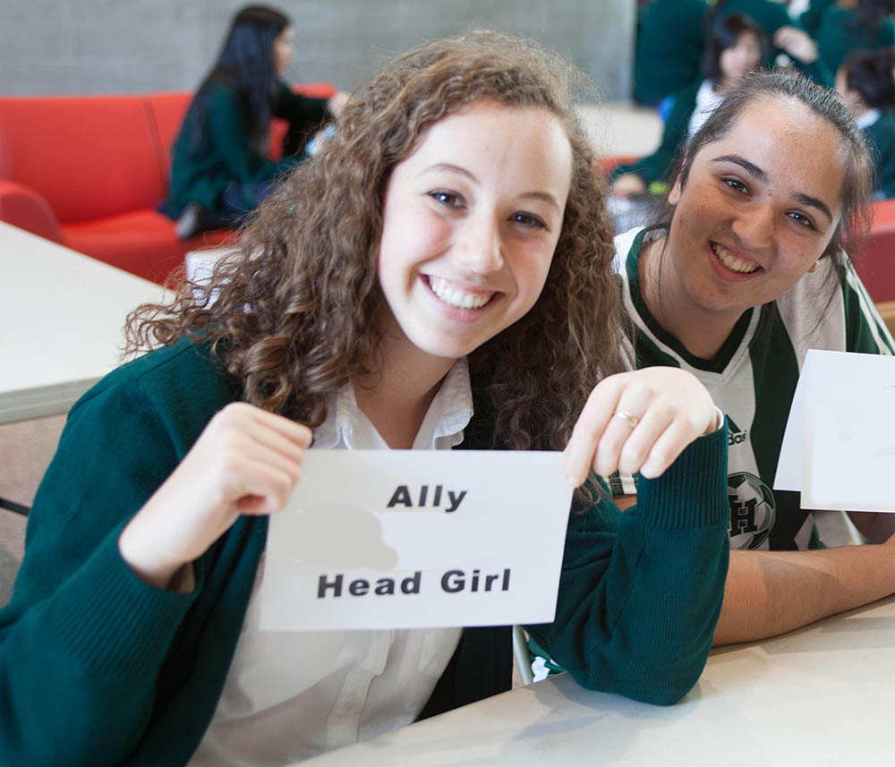 Ally, in Gr. 11, during Election Week.