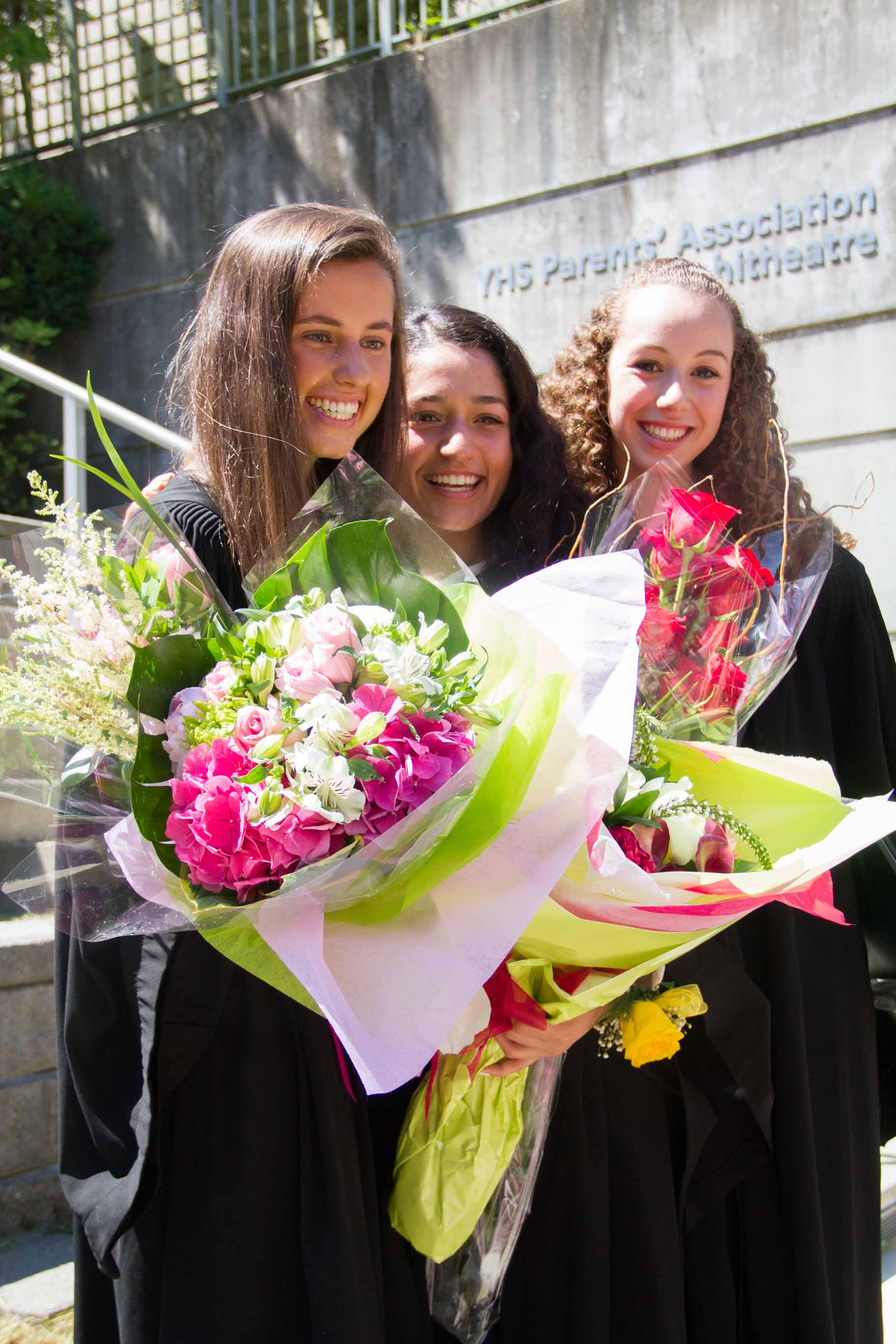 Ally and friends, on Graduation Day