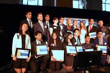 Anjali with the Top 20 Under 20 Award recipients.