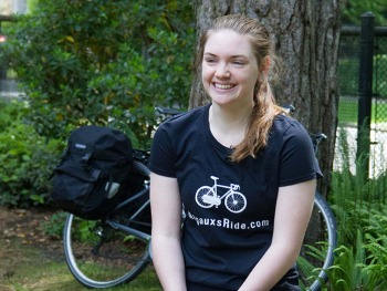 Margaux, Gr. 10,  will be biking across the continent to raise funds for Katcham School in Cambodia.