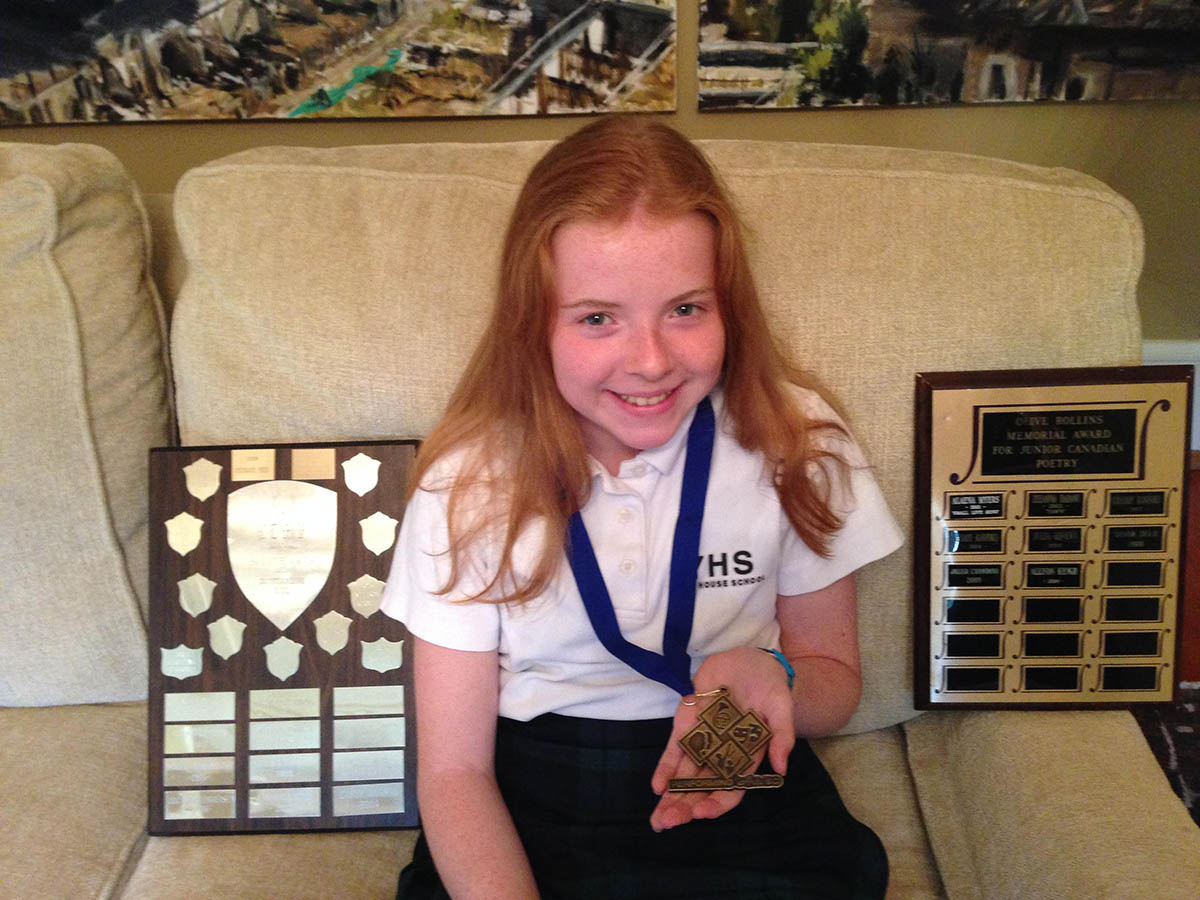Allison, Gr. 7: Provincial Speech Arts Champion