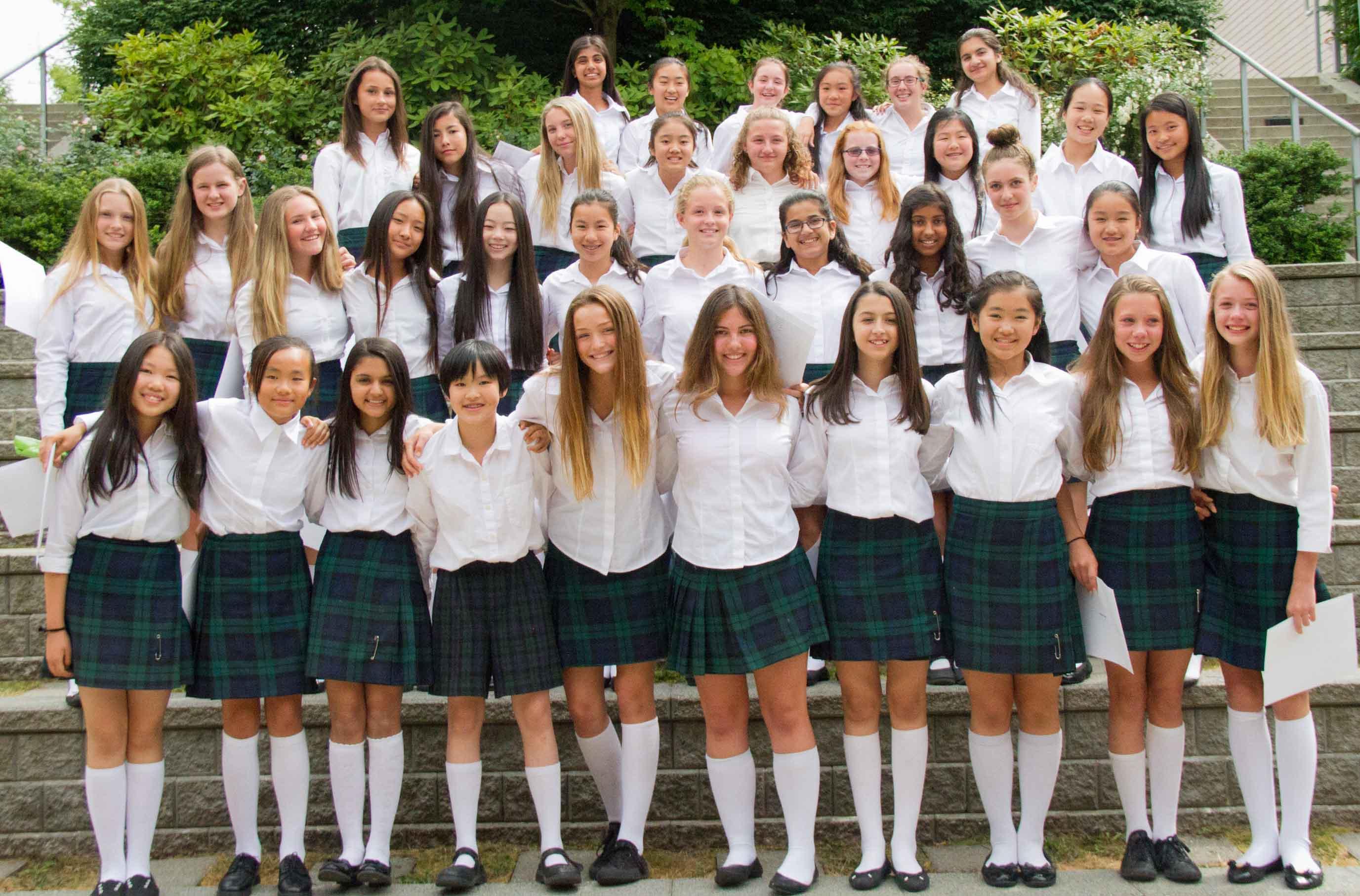 The Grade 7 Class on Graduation Day.