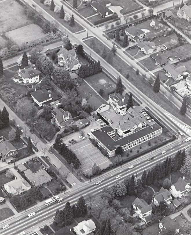 Aerial View of York House School, 1969.