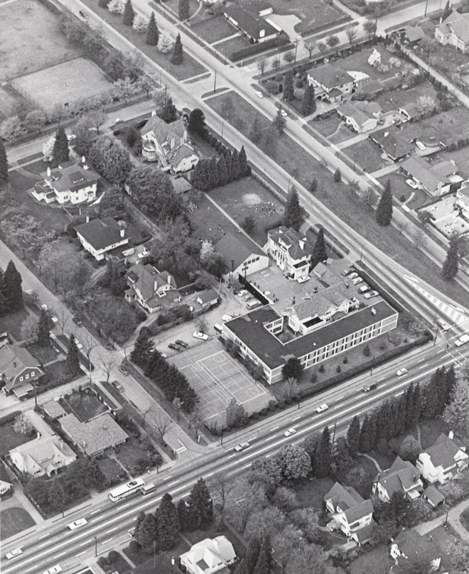 Aerial View of York House School, 1969.