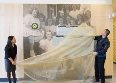 Unveiling of the new Honour Roll Board