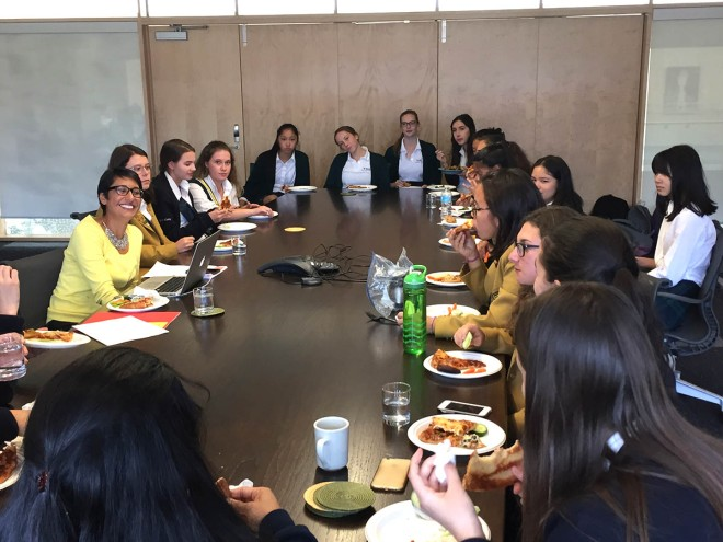 Irshad Manji had lunch with our Student Executive, October 5, 2015.